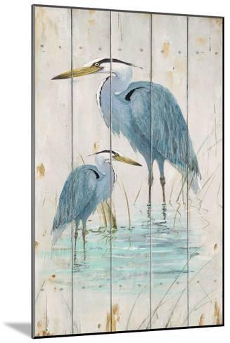 Blue Heron Duo-Arnie Fisk-Mounted Art Print