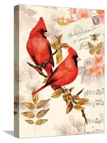 Royal Cardinals-Colleen Sarah-Stretched Canvas Print