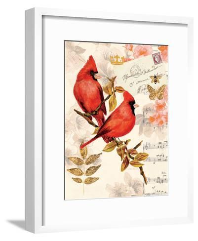 Royal Cardinals-Colleen Sarah-Framed Art Print
