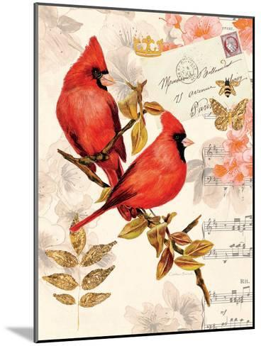 Royal Cardinals-Colleen Sarah-Mounted Art Print