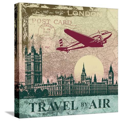 Travel by Air-Malcolm Watson-Stretched Canvas Print