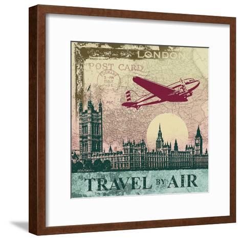 Travel by Air-Malcolm Watson-Framed Art Print