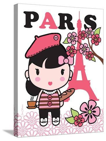 Paris Cutie-Joan Coleman-Stretched Canvas Print