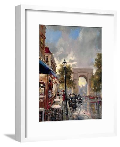 Arc De Triomphe Avenue-Brent Heighton-Framed Art Print