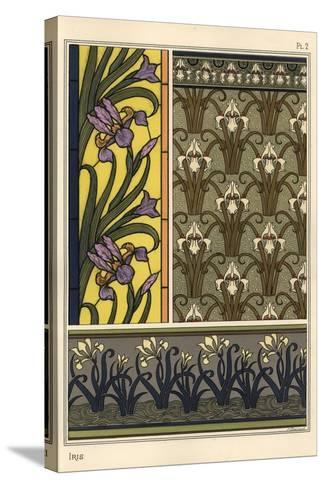The Iris in Various Patterns for Stained Glass, Wallpaper and Fabrics--Stretched Canvas Print