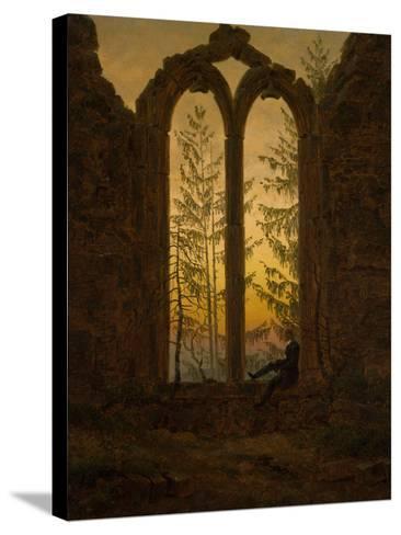 The Dreamer-Caspar David Friedrich-Stretched Canvas Print