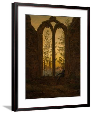 The Dreamer-Caspar David Friedrich-Framed Art Print