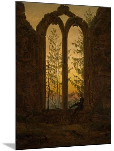 The Dreamer-Caspar David Friedrich-Mounted Giclee Print