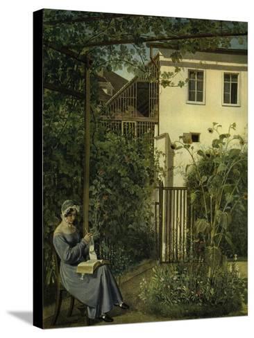"""""""Wiener Hausgarten"""" (Vienna Garden)-Eduard Ritter Von Engerth-Stretched Canvas Print"""