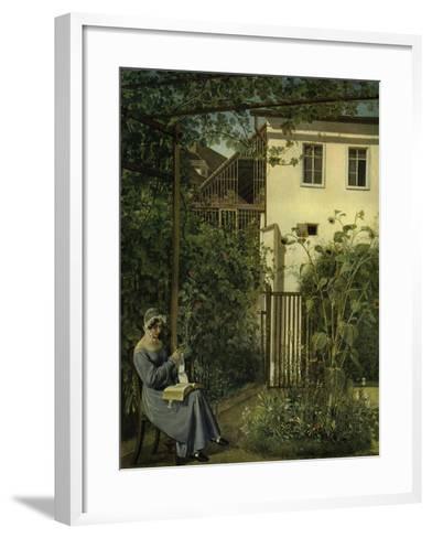 """""""Wiener Hausgarten"""" (Vienna Garden)-Eduard Ritter Von Engerth-Framed Art Print"""