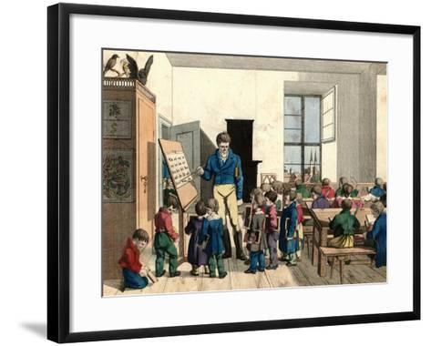 The School-Johann Michael Voltz-Framed Art Print