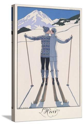 L'Hiver (Winter)-Georges Barbier-Stretched Canvas Print