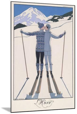 L'Hiver (Winter)-Georges Barbier-Mounted Giclee Print