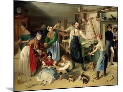 Die Fleißige Tischlerfamilie (The Diligent Carpenter Family)-Johann Baptist Reiter-Mounted Giclee Print