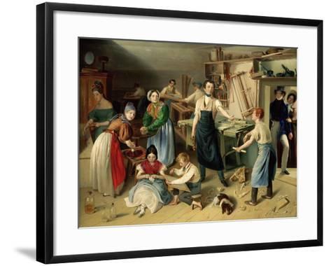 Die Fleißige Tischlerfamilie (The Diligent Carpenter Family)-Johann Baptist Reiter-Framed Art Print