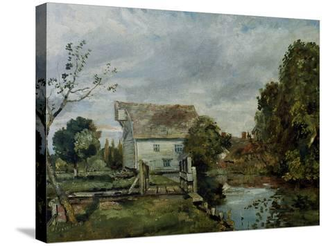 Mill by the River Stour, c.1820-John Constable-Stretched Canvas Print