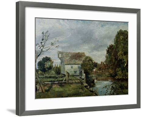 Mill by the River Stour, c.1820-John Constable-Framed Art Print