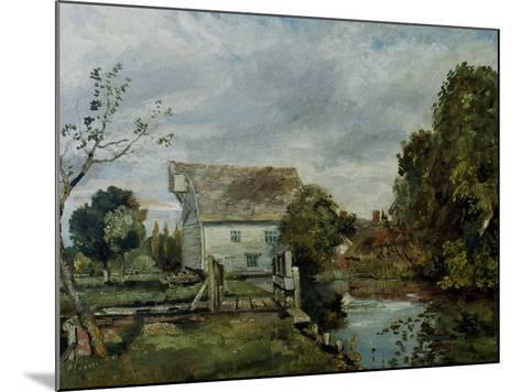 Mill by the River Stour, c.1820-John Constable-Mounted Giclee Print