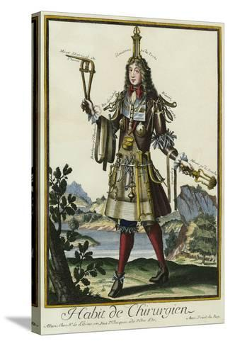 Habit de Chirurgien (A Fantasy Costume of a Surgeon with Various Attributes of His Profession)--Stretched Canvas Print