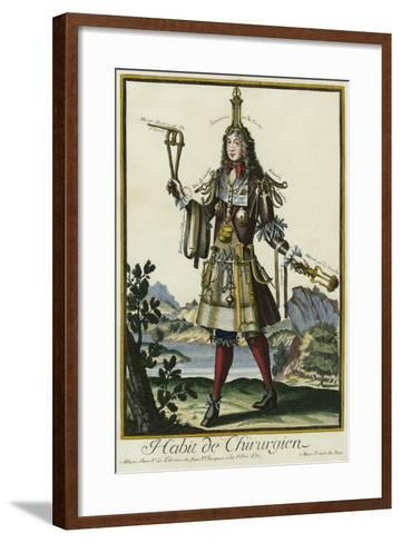 Habit de Chirurgien (A Fantasy Costume of a Surgeon with Various Attributes of His Profession)--Framed Art Print