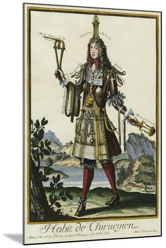 Habit de Chirurgien (A Fantasy Costume of a Surgeon with Various Attributes of His Profession)--Mounted Giclee Print