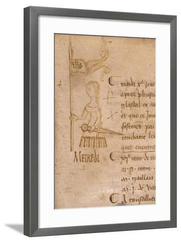 Joan of Arc with Sword and Banner, C.1429--Framed Art Print