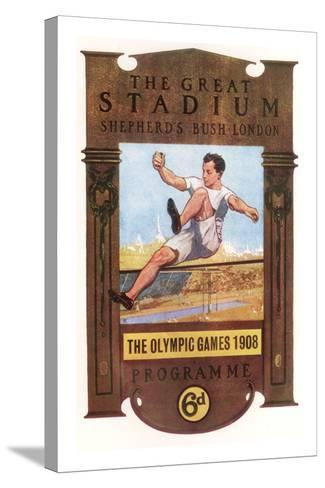 Cover of Programme for 1908 Olympic Games in London--Stretched Canvas Print
