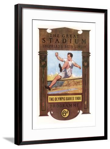 Cover of Programme for 1908 Olympic Games in London--Framed Art Print
