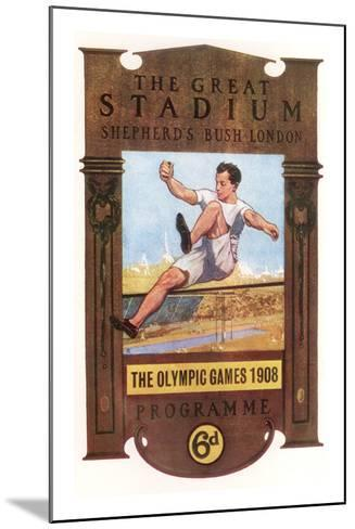 Cover of Programme for 1908 Olympic Games in London--Mounted Giclee Print