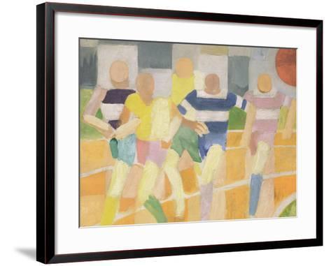 The Runners, c.1924-Robert Delaunay-Framed Art Print