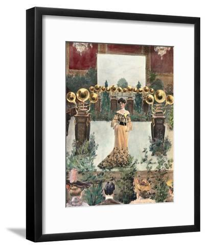 Record and Gramophone, 1899-Fritz Gehrke-Framed Art Print