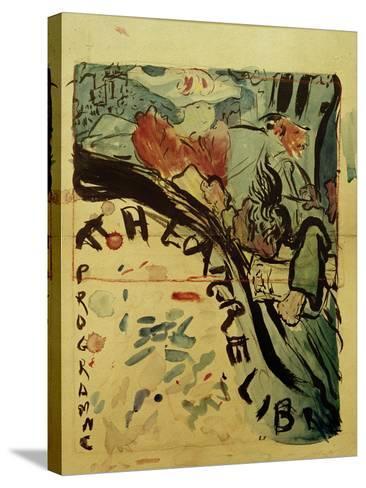 Projet du Programme Pour le 'Théâtre Libre' (Design for Programme of 'Théâtre Libre'), c.1890-91-Edouard Vuillard-Stretched Canvas Print