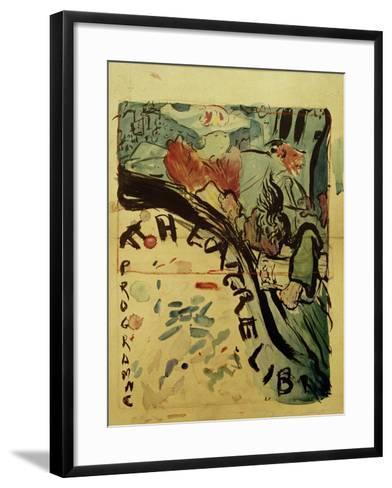 Projet du Programme Pour le 'Théâtre Libre' (Design for Programme of 'Théâtre Libre'), c.1890-91-Edouard Vuillard-Framed Art Print
