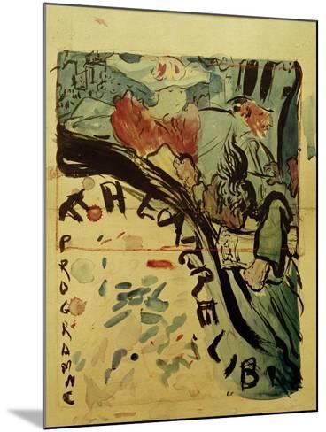 Projet du Programme Pour le 'Théâtre Libre' (Design for Programme of 'Théâtre Libre'), c.1890-91-Edouard Vuillard-Mounted Giclee Print