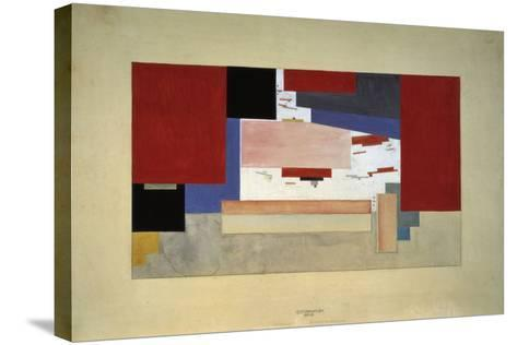 Suprematism (Sketch for a Curtain), 1919-El Lissitzky-Stretched Canvas Print