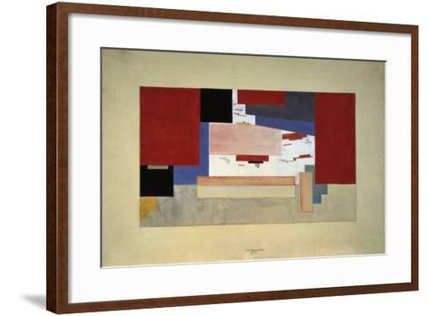 Suprematism (Sketch for a Curtain), 1919-El Lissitzky-Framed Art Print
