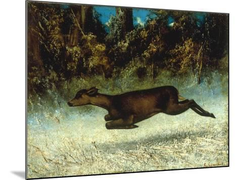 Jumping Deer-Gustave Courbet-Mounted Giclee Print