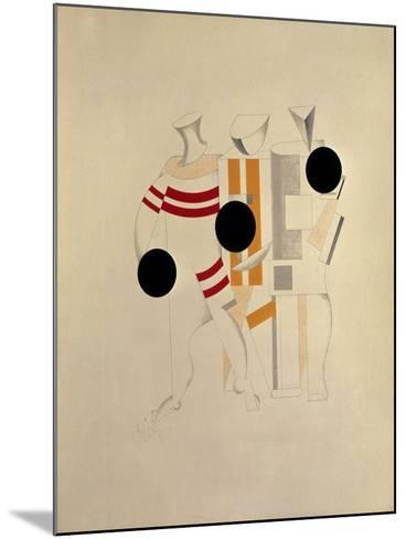 Sportsmen-El Lissitzky-Mounted Giclee Print