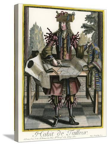 Habit de Tailleur (Fantasy costume of a Men's Tailor with Attributes of His Trade)-Nicolas II de Larmessin-Stretched Canvas Print