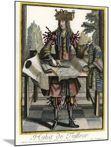 Habit de Tailleur (Fantasy costume of a Men's Tailor with Attributes of His Trade)-Nicolas II de Larmessin-Mounted Giclee Print