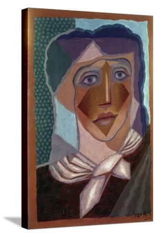 Femme ? L'?charpe (Woman with Neck Scarf), 1924-Juan Gris-Stretched Canvas Print