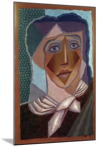 Femme ? L'?charpe (Woman with Neck Scarf), 1924-Juan Gris-Mounted Giclee Print