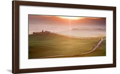 Morning in Val d'Orcia-Marcin Sobas-Framed Art Print