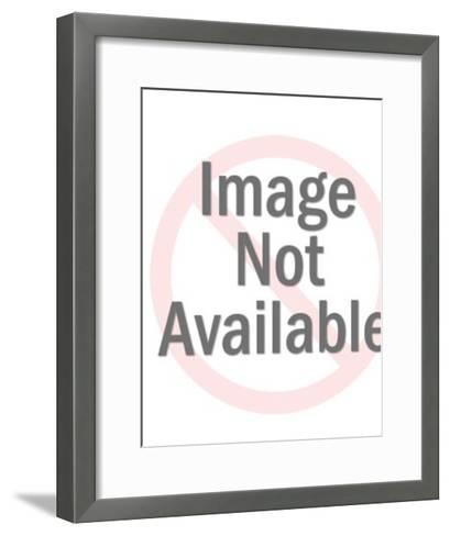Man Standing on a Globe-Pop Ink - CSA Images-Framed Art Print