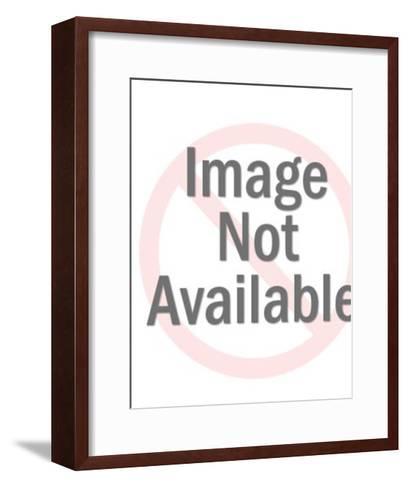Man Looking Through Binoculars-Pop Ink - CSA Images-Framed Art Print