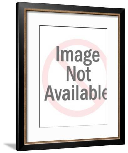 Busty Blonde Woman-Pop Ink - CSA Images-Framed Art Print