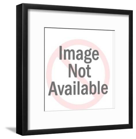 Businessmen on Blue Background-Pop Ink - CSA Images-Framed Art Print