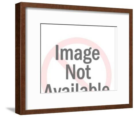 Man Pointing at Woman-Pop Ink - CSA Images-Framed Art Print