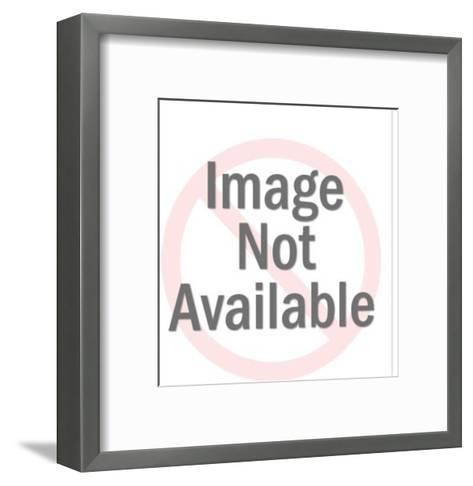 Man Pointing at Sun-Pop Ink - CSA Images-Framed Art Print