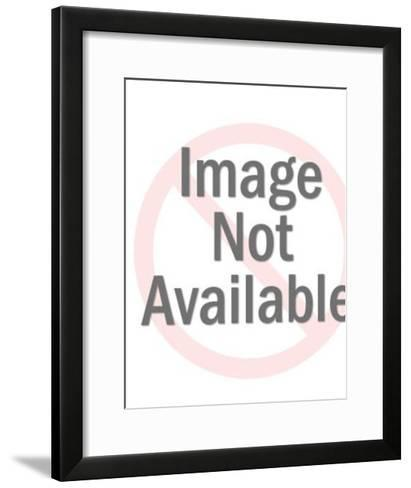 Zombie Attacking Man as Woman Flees-Pop Ink - CSA Images-Framed Art Print